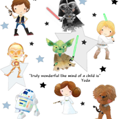 Nerdy Space Characters – Geek Fantasy Kids Room Bedding Sheets A