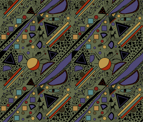 African Memphis Art by Salzanos  fabric by salzanos on Spoonflower - custom fabric