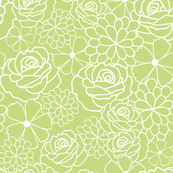 Fresh green floral texture pattern