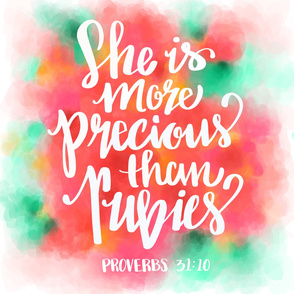 Proverbs 31 Hand Lettering Pillow