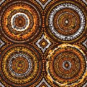 Fiery sun african motif