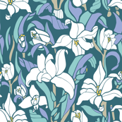 Monja Blanca Orchid in Blue