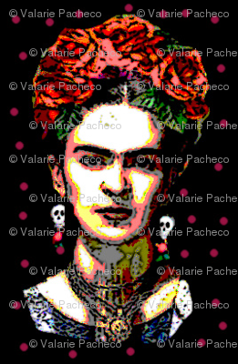 Frida Red Polka Dot Fabric