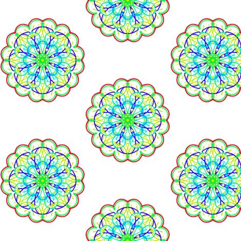 Dainty Fantasy Blossoms fabric by rhondadesigns on Spoonflower - custom fabric