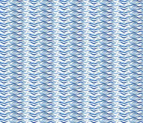 Wavy Watercolor Water fabric by eileenmckenna on Spoonflower - custom fabric