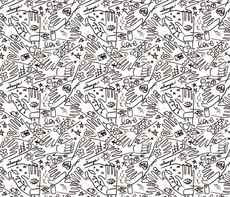 handy tats fabric by nikalola on Spoonflower - custom fabric