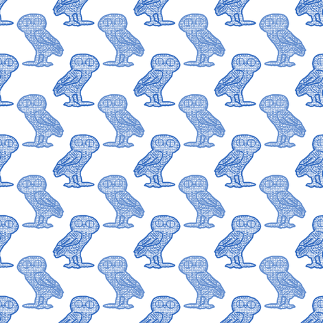 Athena's Owl fabric by anniedeb on Spoonflower - custom fabric