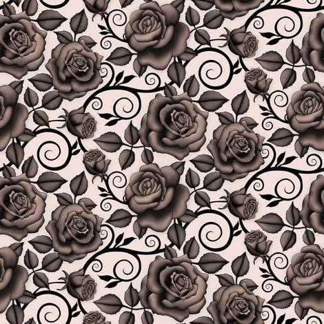 Black Rose fabric by j9design on Spoonflower - custom fabric