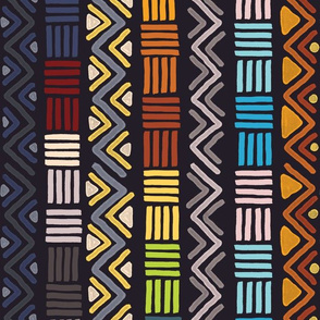African Geometric Dark Colorway
