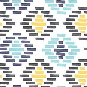 African Geometric Pattern Blue