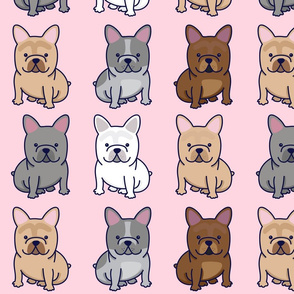 FRENCHIE PATTERN Dog, French, Bulldog, Cute,