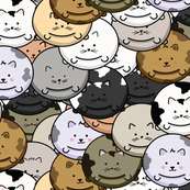 CHUBBY CAT BALLONS PATTERN