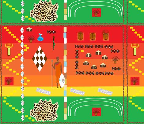 african pattern fabric by art_by_rita on Spoonflower - custom fabric