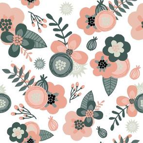 Sage & Coral Floral Large