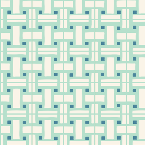 Le Parc Mosaic (mint) fabric by nouveau_bohemian on Spoonflower - custom fabric