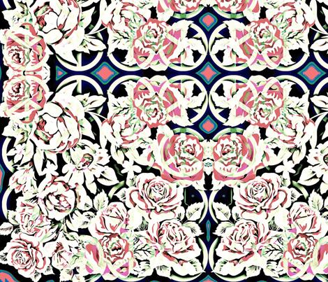 peace roses-5 fabric by kae50 on Spoonflower - custom fabric