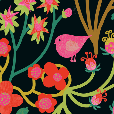 Floral Naive_ fabric by danidesign on Spoonflower - custom fabric