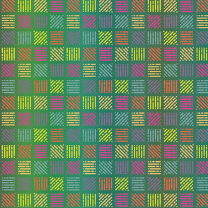 GREEN RAINBOW COORDINATE CHECKERBOARD SQUARES ALPHABET