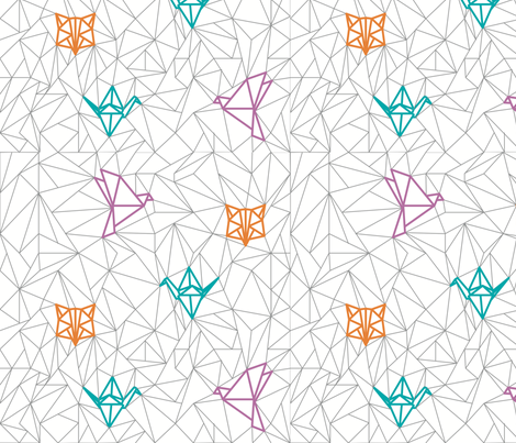 Origami Petit M fabric by petitm on Spoonflower - custom fabric