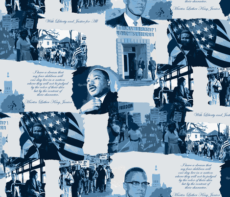 Civil Rights Large Scale fabric by littlerhodydesign on Spoonflower - custom fabric