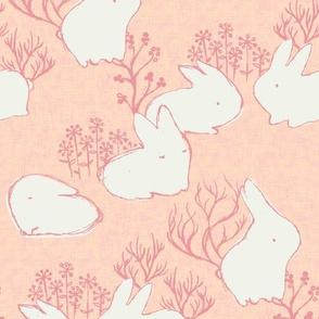 Arctic Hare {Fuzzy Peach}