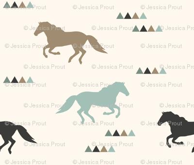 (small scale) wild horses