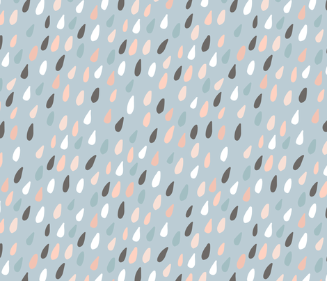 Colorful waterdrops fabric by solmariart on Spoonflower - custom fabric