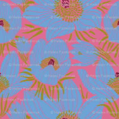 Arctic Blueish Pasque flowers (Pantone sachet pink)