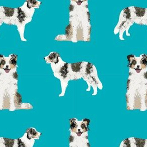 border collie blue merle simple dog fabric dog breed blue