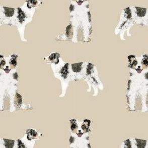 border collie blue merle simple dog fabric dog breed tan