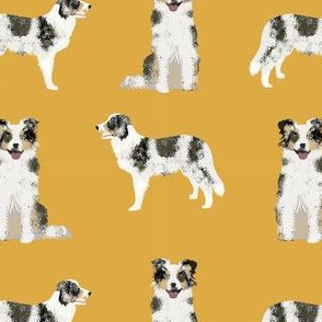 border collie blue merle simple dog fabric dog breed yellow