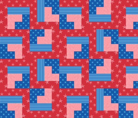 Stars and Stripe Steps fabric by twigsandblossoms on Spoonflower - custom fabric