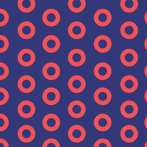 Fishman Donut Fabric,  2 inch Pink and Blue