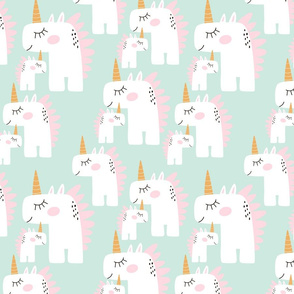 Fairy Mom unicorn with little one