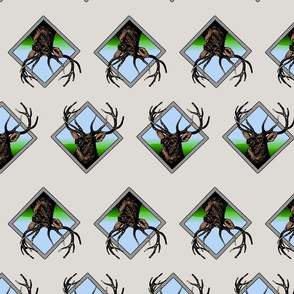 diamond deer pattern