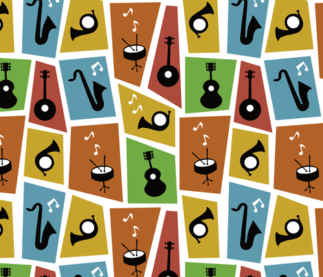 jazz music fabric by sarahparr on Spoonflower - custom fabric