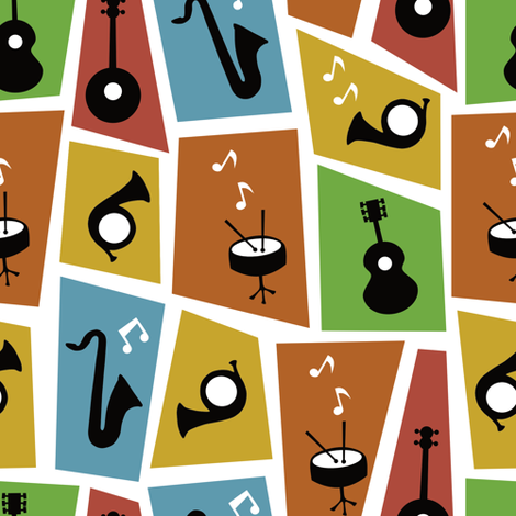 jazz music fabric by sarahparr on Spoonflower - custom fabric