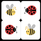 bees and ladybugs squares