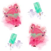 flamingo popsicle