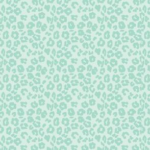 Mint Leopard Print