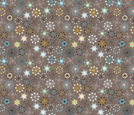 Arctic Animals Coordinate (Flakes) fabric by vannina on Spoonflower - custom fabric