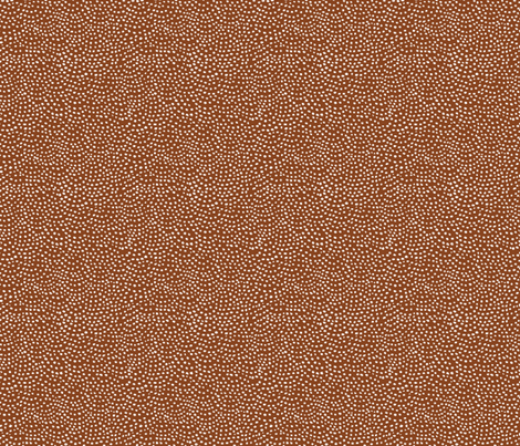 scalloping dots // cinnamon fabric by ivieclothco on Spoonflower - custom fabric