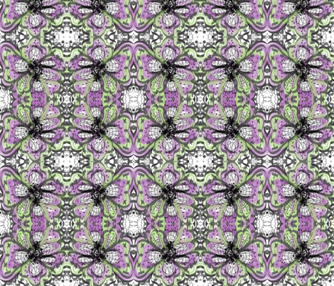 Purple flower lll fabric by unclemamma on Spoonflower - custom fabric
