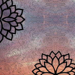 peace roses-mandala sunset-2