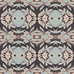 dusty blue and brown tapestry