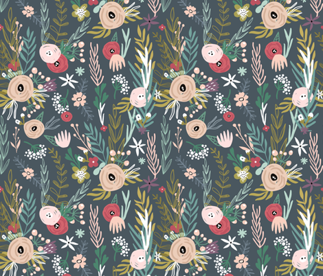 Tender bloom fabric by solmariart on Spoonflower - custom fabric