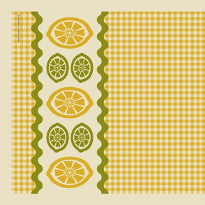 Lemon Lime Tea Towel