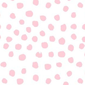 dots polka dot fabric white and pink nursery girls decor