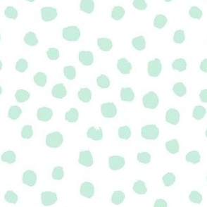 dots polka dot fabric mint and white nursery girls decor