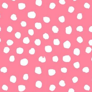 dots polka dot fabric pink and white nursery girls decor